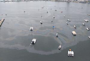 Sustancia oleosa bahía cartagena