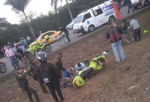 Accidente recta Palmira