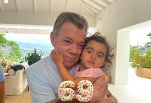 Juan Manuel Santos y Celeste, su nieta mayor