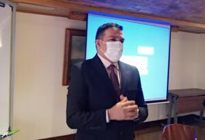 Wilmer Azuaje, coordinador de DD.HH. adscrito a la Comisión Presidencial de Relaciones Exteriores.