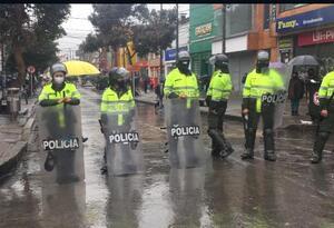 Protestas en el 20 de julio en Bogotá