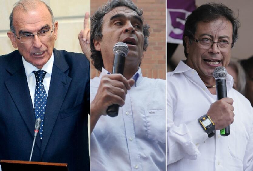 Humberto de la Calle, Sergio Fajardo y Gustavo Petro