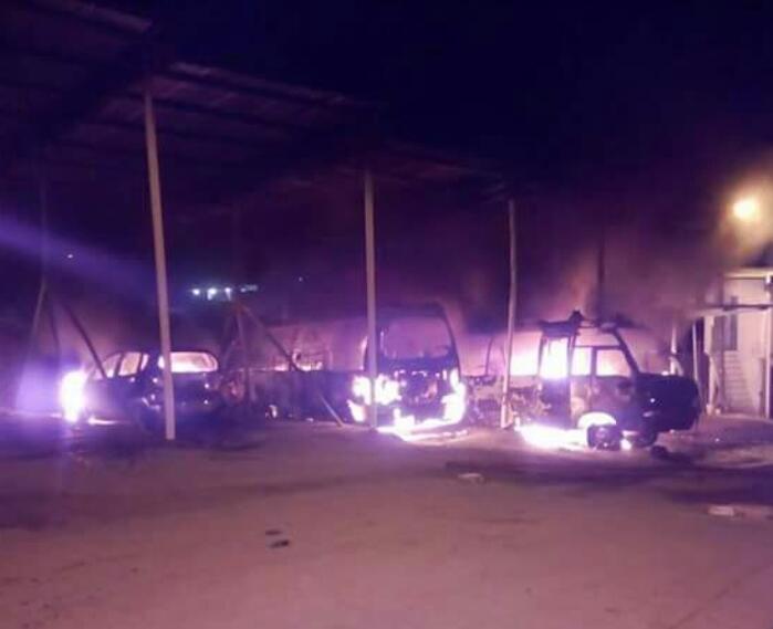 Incendio en parqueadero de Tolima