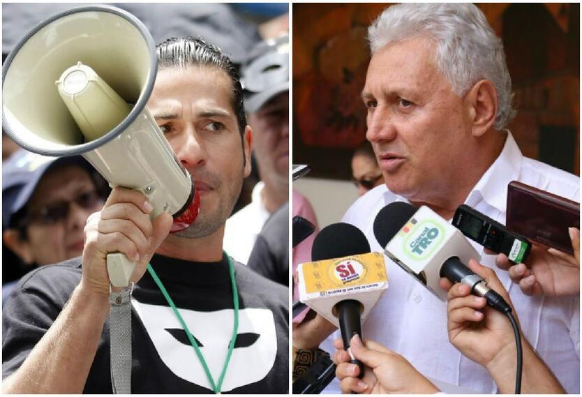 Gregorio Pernia y alcalde de Cúcuta, César Rojas