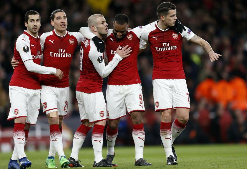 Arsenal venció a CSKA de Moscú.