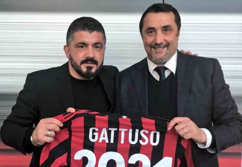Gennaro Gattuso renovó su contrato con Milan hasta junio de 2021