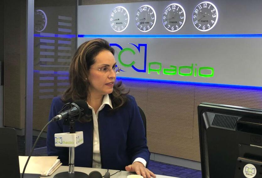 La candidata presidencial, Viviane Morales