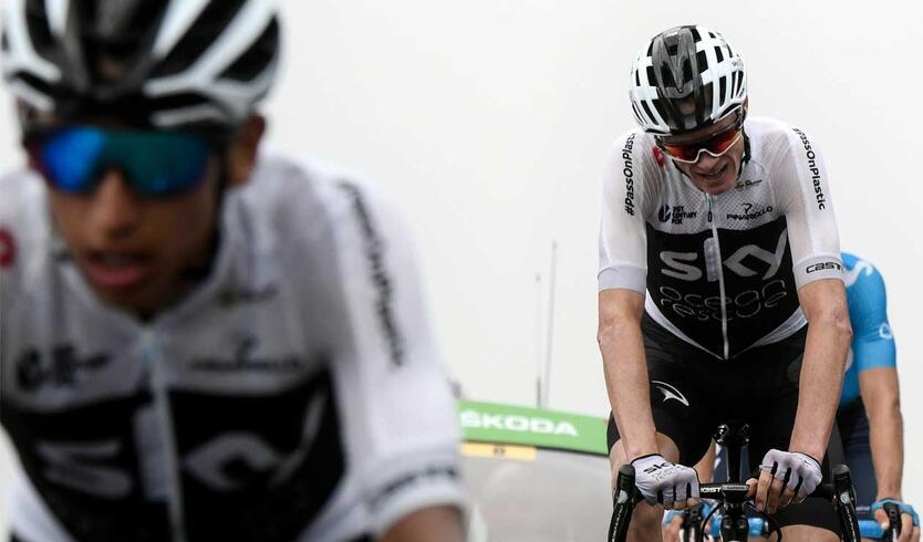 Egan Bernal y Chris Froome en la etapa 17 del Tour de Francia