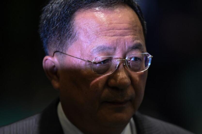 El ministro de Relaciones Exteriores norcoreano Ri Yong Ho.