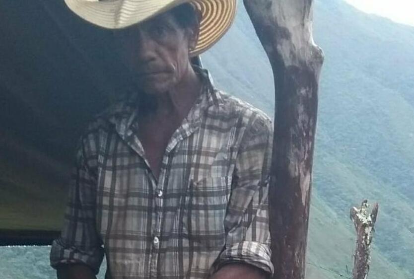 El líder social, Hernán Darío Chavarría, miembro de la Asociación de Barequeros del Norte de Antioquia
