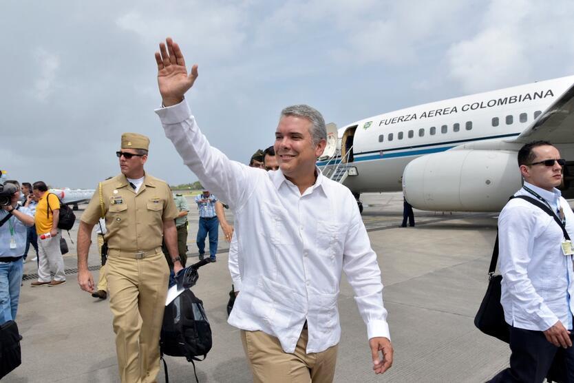 Iván Duque, en su primer viaje a San Andrés como Presidente
