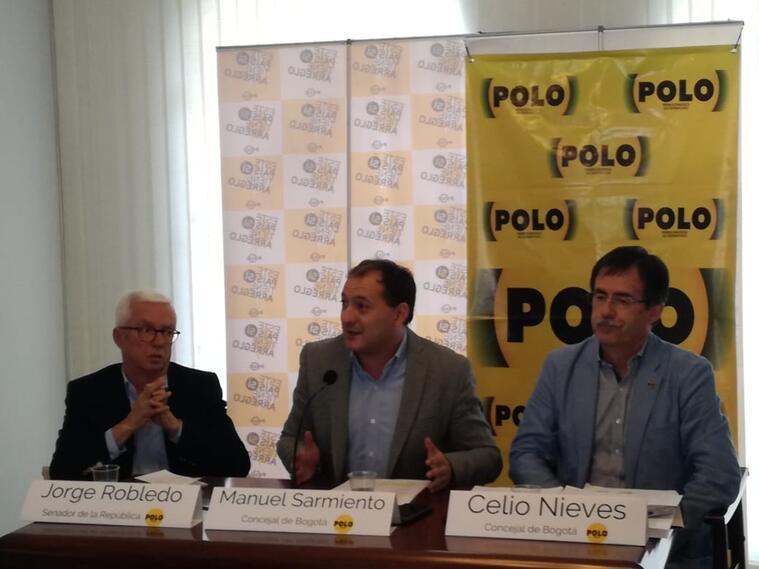 Jorge Robledo, Manuel Sarmiento y Celio Nieves