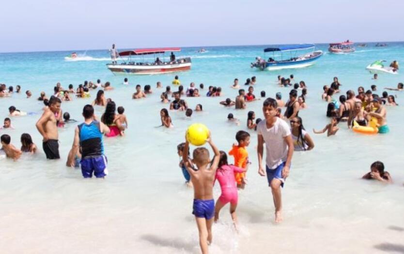 Playa Blanca en isla Barú, Cartagena.