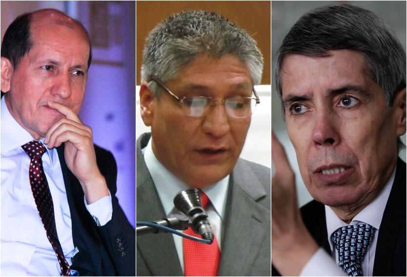 Luis Mendieta, Sigifredo López y Alan Jara, quienes estuvieron secuestrados por las Farc