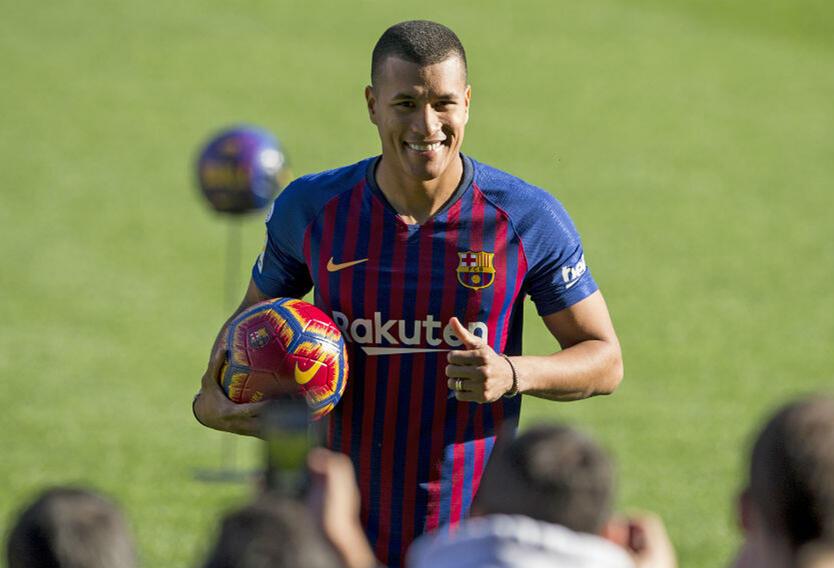 Jeison Murillo fue presentado en diciembre como jugador del Barcelona.