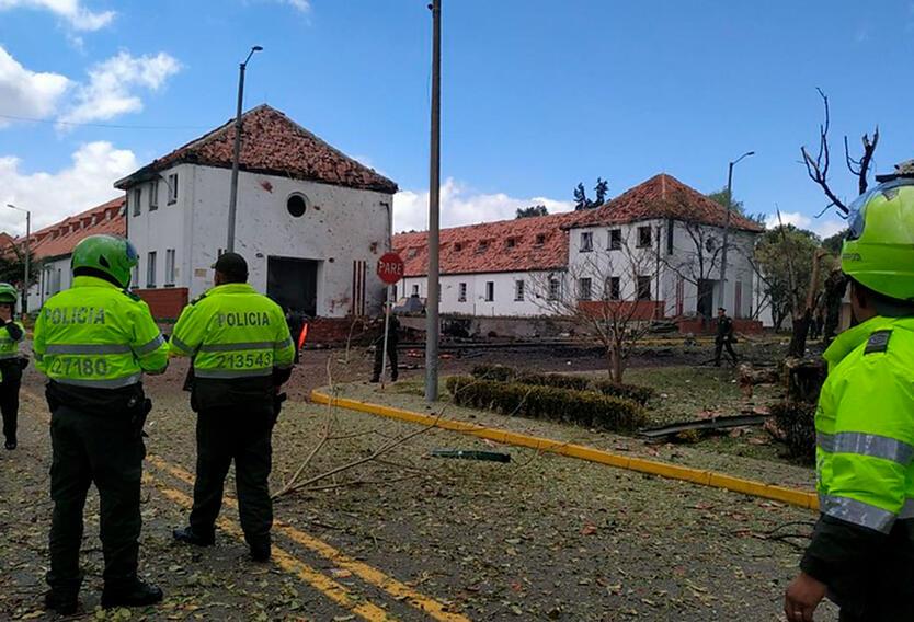 La Escuela General Santander, tras el atentado del 17 de enero de 2019