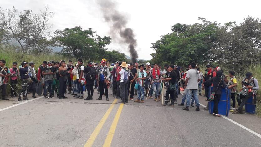 Protesta Indígena en el Huila