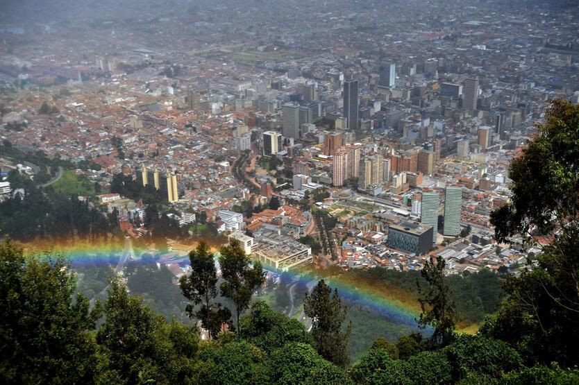 Panorámica de Bogotá.