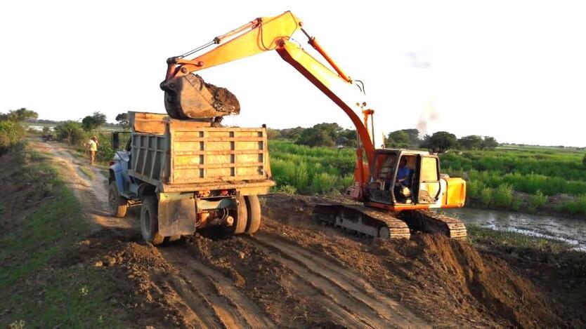 Obras de contención de inundaciones