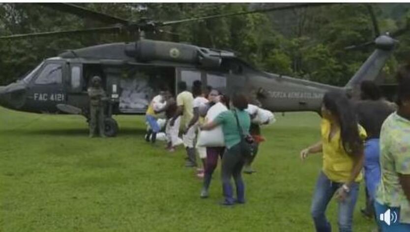 Familias damnificadas por las lluvias en Urrao, Antioquia
