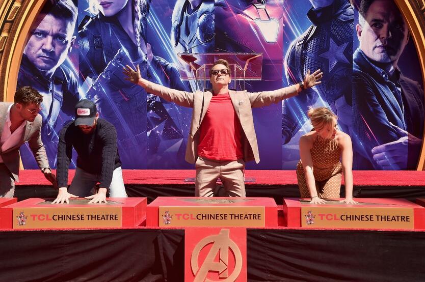 Robert Downey Jr en la premier china de Avengers: Endgame