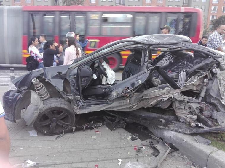 Grave accidente de tránsito en el sur de Bogotá