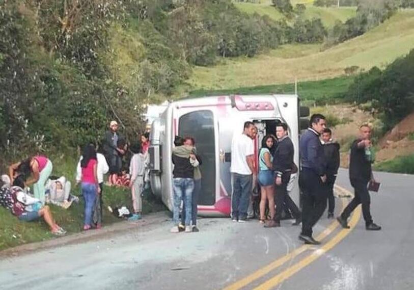 Bus se accidentó en Boyacá