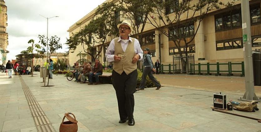 Artistas en el centro de Bogotá