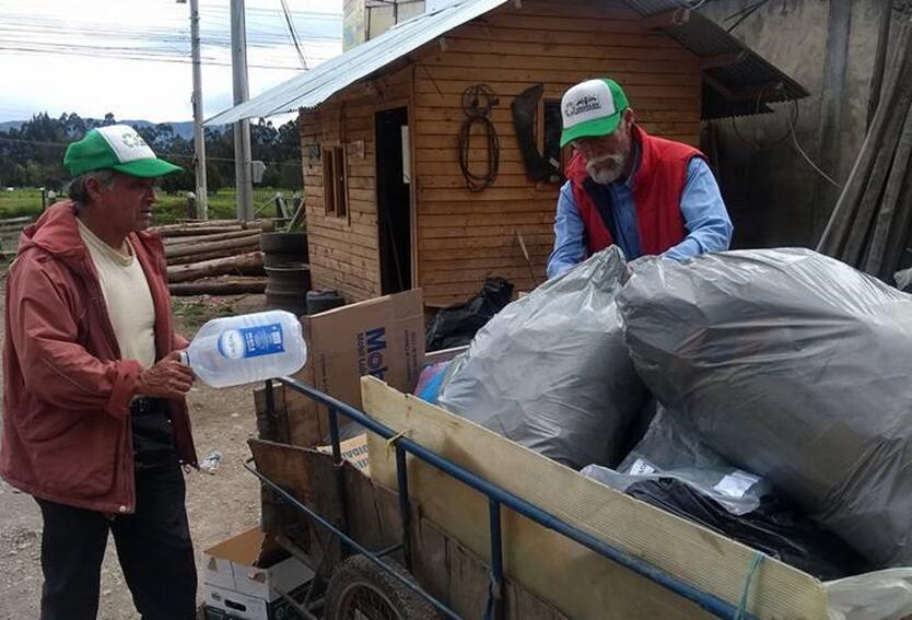 Ángel reciclador en Ubaté