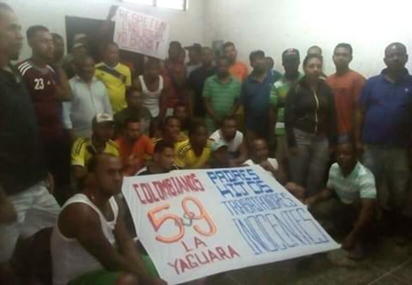 Colombianos detenidos en Caracas claman por atención de Bachelet