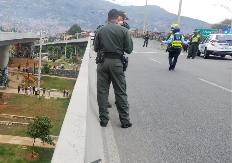 Lugar de la persecución contra ladrones en Medellín.