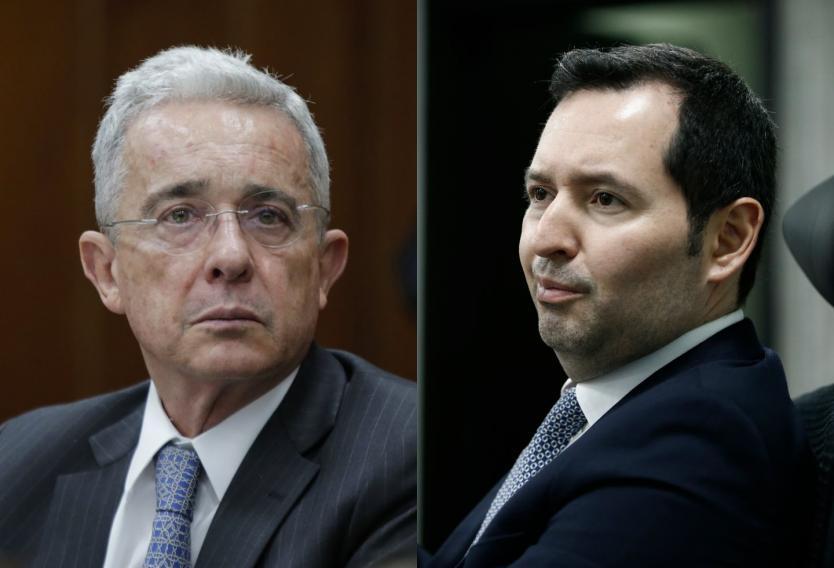 Álvaro Uribe y Jorge Perdomo