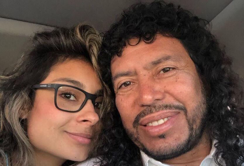 Pamela Higuita y René Higuita