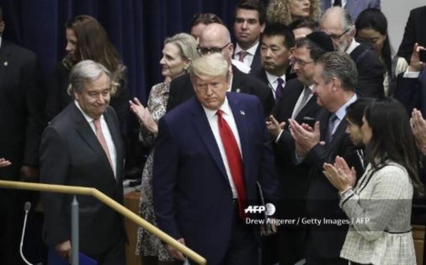 Trump llegó de sorpresa a la Cumbre del Clima de la ONU