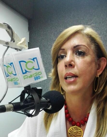 Clara Luz Roldán candidata a la Gobernación del Valle del Cauca.