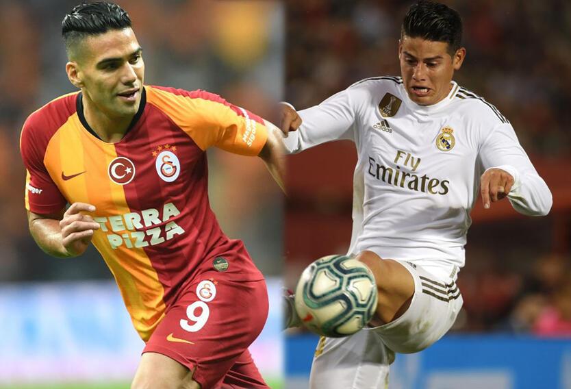 Radamel Falcao y James Rodríguez, futbolistas colombianos