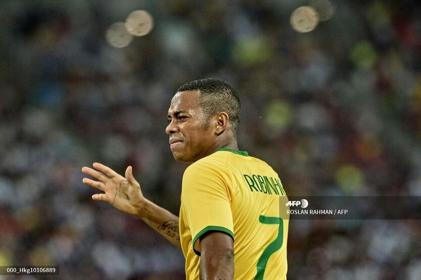 Robinho en su tiempo con la selección de Brasil