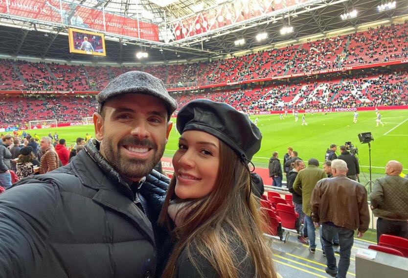 Lina Tejeiro y su novio Norman Capuozzo.