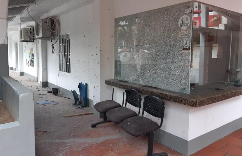 Atentado a estación de Policía en Tame (Arauca)