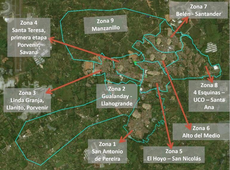 Zonas de suspensión de acueducto en Rionegro