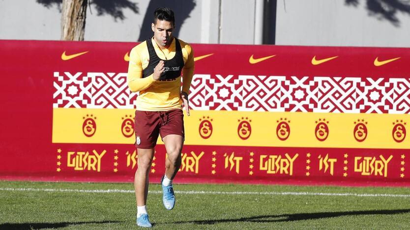 Falcao García entrenando con el Galatasaray
