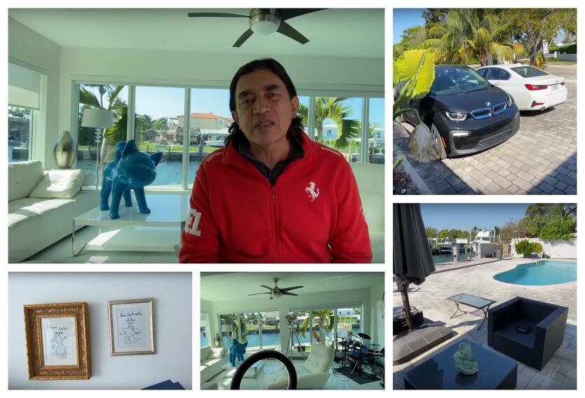 Gustavo Bolívar y su casa en Miami