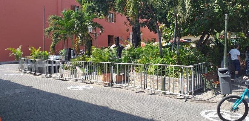 Fueron cerradas en total cuatro calles y también la Plaza de San Diego que se suma al cierre de la Plaza de la Trinidad