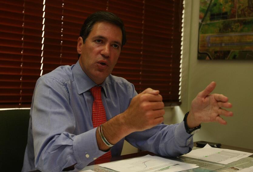 El embajador de Colombia en Uruguay,Fernando Sanclemente.