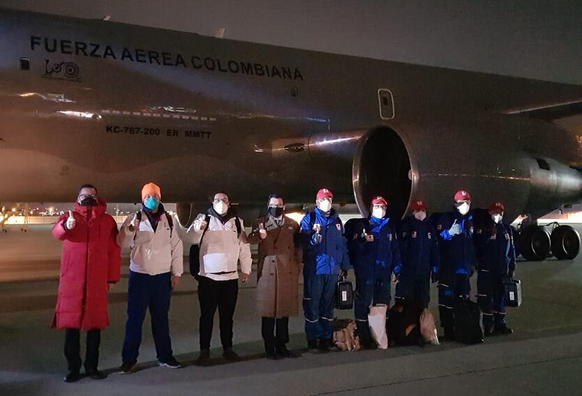 Misión colombiana que traerá a los colombianos desde Wuhan