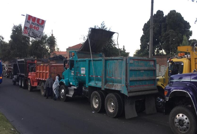 Protestas de camioneros