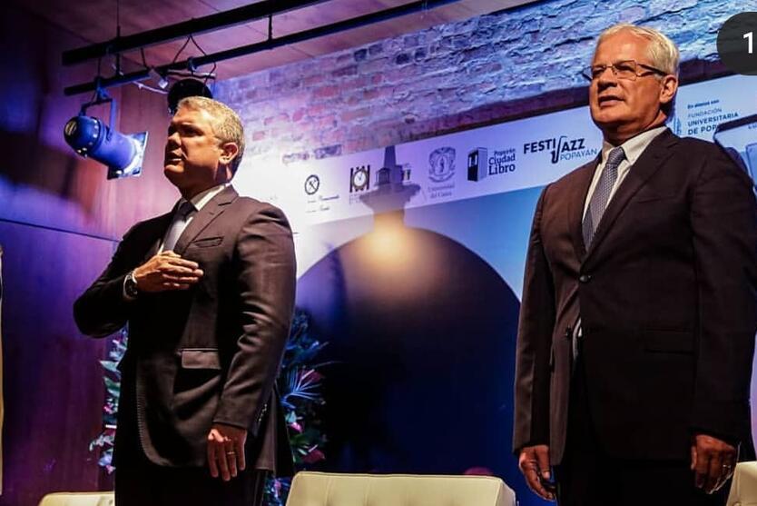 Alcalde de Popayán en encuentro con presidente Duque