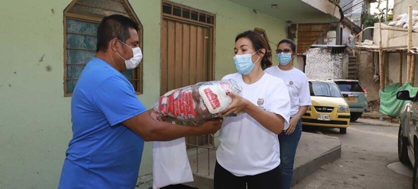 Los alimentos se entregarán con una periodicidad de entre 8 y 9 días durante la emergencia de salud que se vive por el coronavirus.