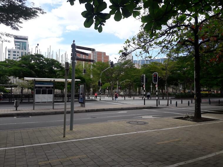 Parque de las Luces en Medellín.