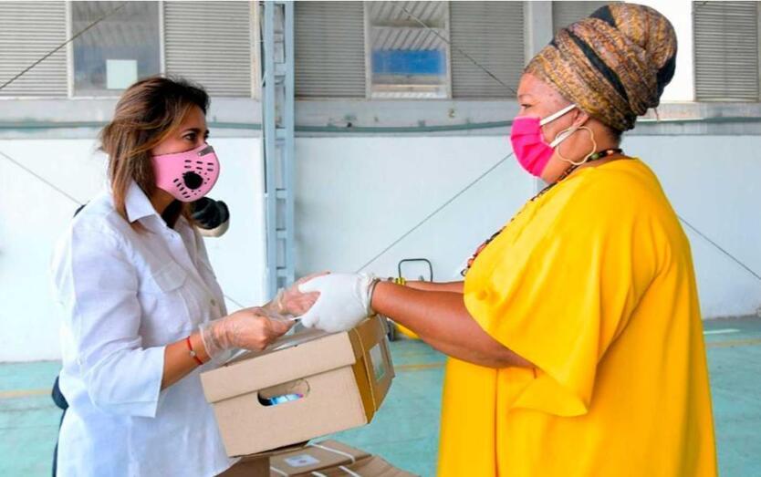 Primera Dama entrega ayudas en San Andrés